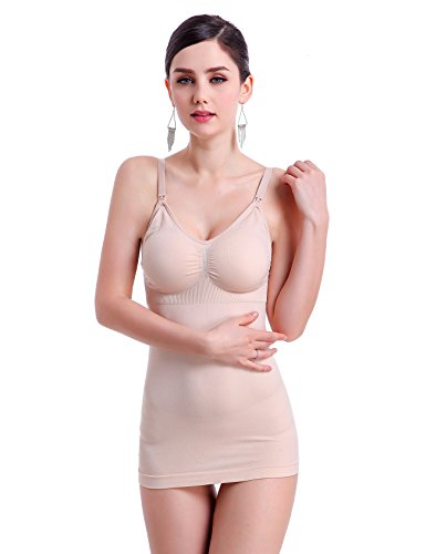 Jueshanzj Damen Still-Unterhemd Ohne Bügel Still-Tanktop Nackt L