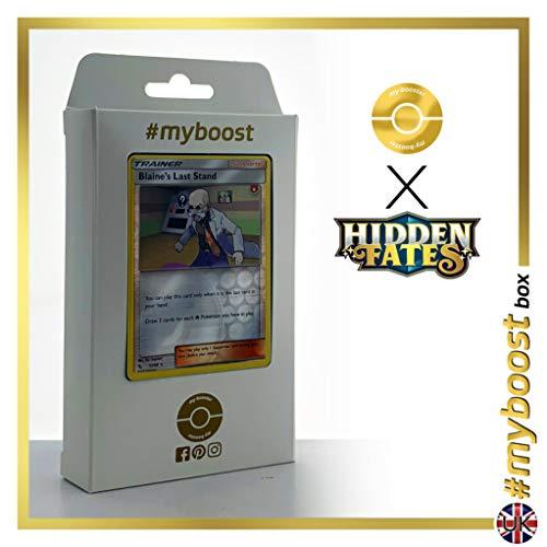 Blaine's Last Stand 52/68 Holo Reverse - #myboost X Sun & Moon 11.5 Hidden Fates - Doos met 10 Pokemon Engelse kaarten