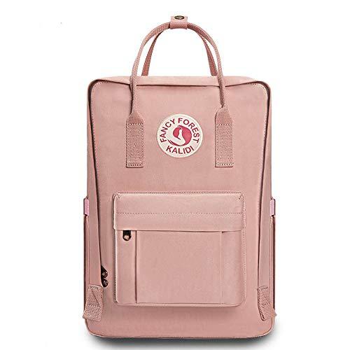 KALIDI Rucksack/Daypack Rucksack Mädchen Jungen & Kinder Damen Herren Schulrucksack mit laptopfach für 15 Zoll Notebook (Rosa)