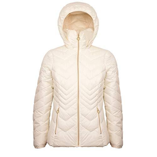 Michael Michael Kors Women's White Down Hooded Packable Jacket (M)