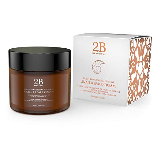 REVOLUTIONARY Anti Aging Intensive Moisturizer Cream with 92% Natural Korean Snail Mucin - 2.53 oz (75 grams)