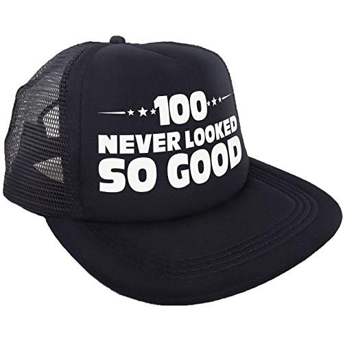"""""""100 Never Looked So Good"""" Hat - Happy 100th Birthday Party Supplies, Ideas and Decorations - Funny Birthday"""