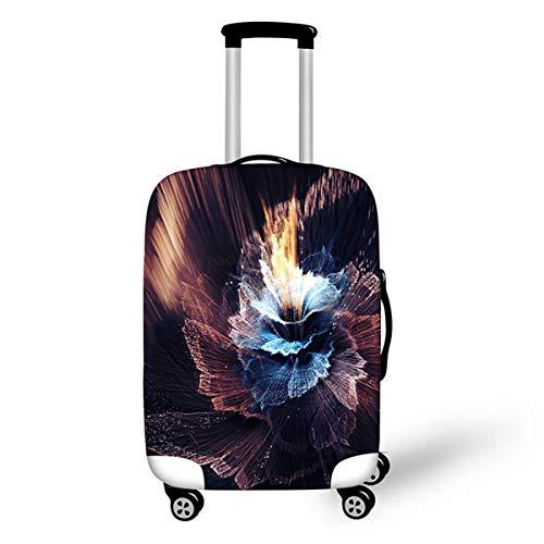Surwin 3D Elastica Proteggi Valigia Suitcase Luggage Cover Coperchio di Protezione Antipolvere Lavabile Copertura Viaggio Proteggi Bagagli Coprire (Stile arte fiore 4,S (18-20 pollici))