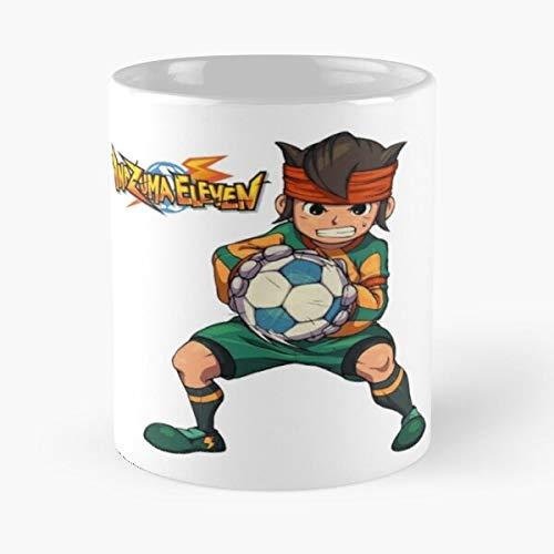 Desconocido Inazuma Mark Anime Soccer Go Evans Endou Mamoru Eleven Best Mug Holds Hand 11oz Made from White Marble Ceramic