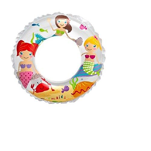 DC Bouee Boue pneumatique Enfants - Diametre 61 cm - Piscine - Blanc - 242