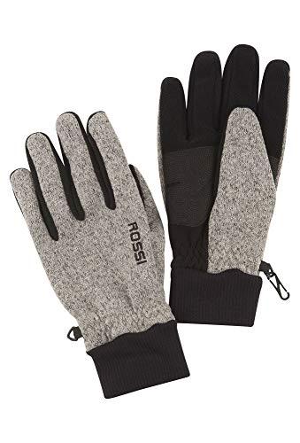 Vittorio Rossi Herren Strickfleece Handschuhe hellgrau,9