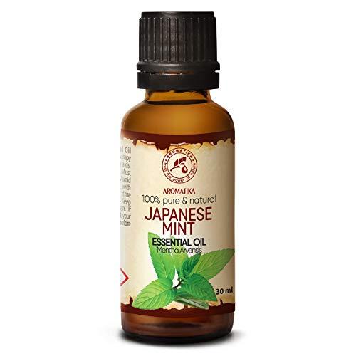 Minzöl 30ml - Mentha Arvensis - Minzöl Ätherisch - Japanisches Minzöl zur Aromatherapie - Aroma Diffuser - Duftlampe - Bad - Besten für Beauty - 100% Rein und Natürlich - Japan