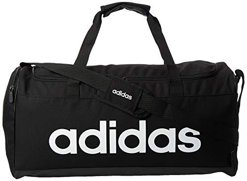 Adidas Lin Duffle M Gym Bag, Unisex Adulto, Black/Black/White, NS