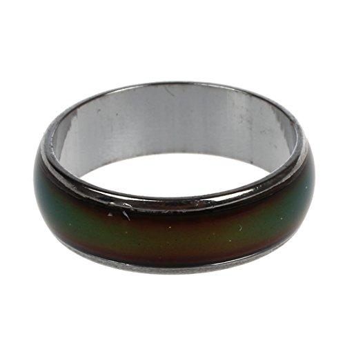SODIAL(R) Emocion sentimiento anillo de color cambiante de la aleacion animo tamano ee.uu. 6 3/4