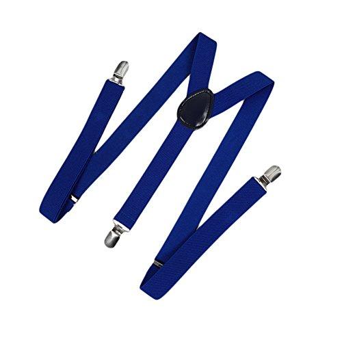 Romacci Nueva moda hombres mujeres Clip en tirantes Y elástico en forma volver Formal Unisex ajustable llaves