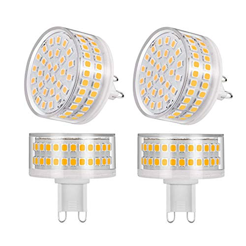 BBGSFDC Bulbos LED Dimmable G9 5.5 W SMD2835 Sin Parpadeo LED Light AC220-240V 360 Grado DE Segura DE MUJO DISEÑO, TAMAÑO 40X40MM, Luz Natural (Color : Warm White Light)