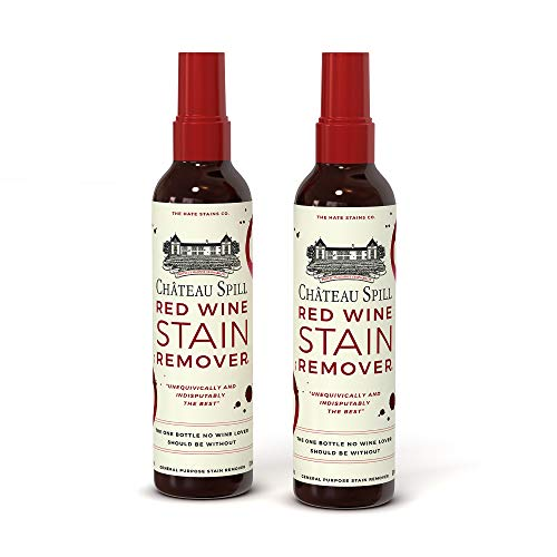 Chateau Spill Red Wine Stain Remover – Super Concentrated and Safe Spray Cleaner for New and Set-In Wine Stains on Carpet, Rugs, Clothing Upholstery and Laundry (120ml, 4 oz Spray Bottles) 2 Pack