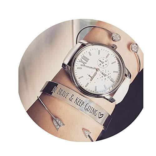 ANAZOZ Modeschmuck Armkette Armband Armreif Damen Schmuckset Pfeil Kubikzircon Gold Damen Charm Armband