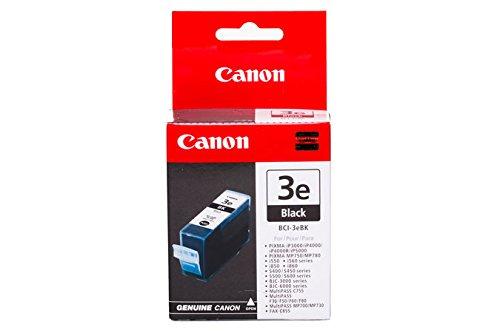Canon BCI-3e original Tintenpatrone Schwarz für Pixma Inkjet Drucker iP3000-iP4000-iP4000R-iP5000