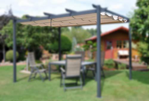 Leco Ersatz-Dachtextil für Pavillon Pergola (14300103),Natur,3,0 x 4,0 m