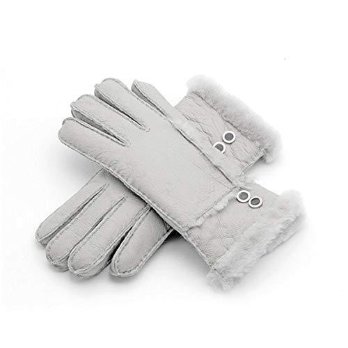 Carl Hamilton Echtfell Handschuhe Fäustlinge Schaffell Damen Woll Kaschmir Handschuhe Fäustlinge Damen Handschuhe Grau