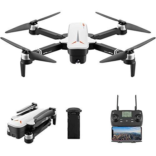 J-Love Drone GPS con videocamera 4K per Adulti, 5G WiFi FPV Brushless RC Drone, Posizionamento del Flusso Ottico, modalità Senza Testa, Altitude Hold, Follow Me Foldable RC Quadcopter