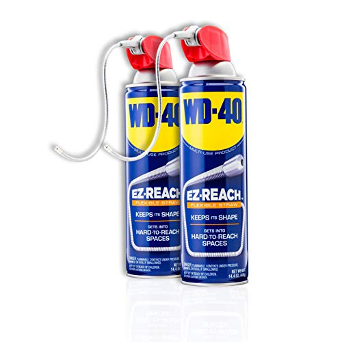 WD-40 - 490545 Multi-Use Product, EZ-Reach Flexible Straw, 14.4 OZ [Twin-Pack]
