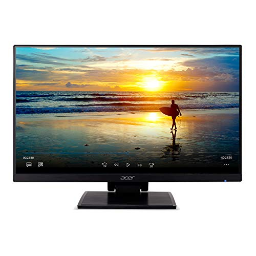 """Acer UT241Y bmiuzx 23.8"""" Full HD (1920 x 1080) Zero Frame IPS Touchscreen Monitor with Dual-Hinge Tiltable Stand (USB 3.1 Type-C, HDMI & VGA ports),Black"""