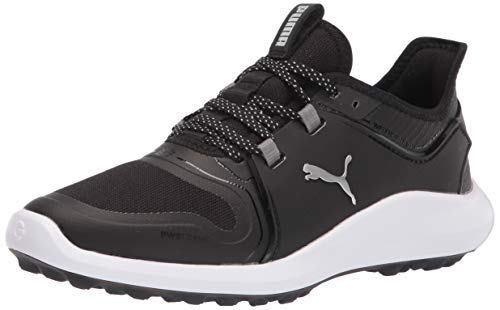 PUMA Women's Ignite Fasten8 Golf Shoe, Black White, 5.5