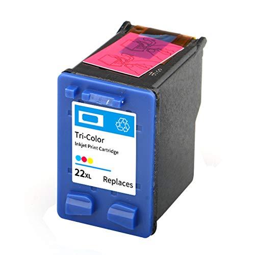 21 22 Cartucho de tinta, Reemplazo para HP Deskjet 3910 D2460 F2235 2180 2280 F370 OfficeJet 4315 J3680 Impresora de inyección de tinta Cartuchos de tinta Black y Tr color