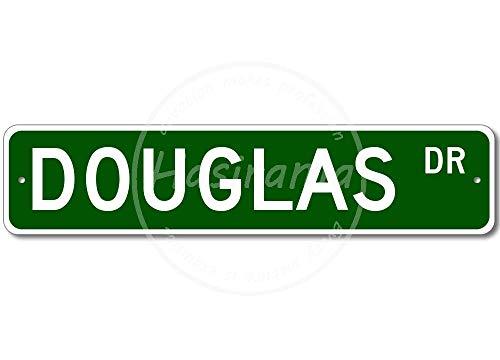 NOT Douglas Street metalen bord decoratief bord retro poster metaal vintage deurschild decoratief schild blik kunst schilden hof Cafe bar geschenk 40x10cm