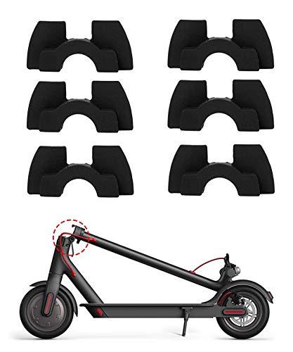 Poweka Amortiguadores de Vibración de Goma de 6 Piezas Compatible con Xiao-mi Mijia M365 / M365 Pro Scooter Eléctrico