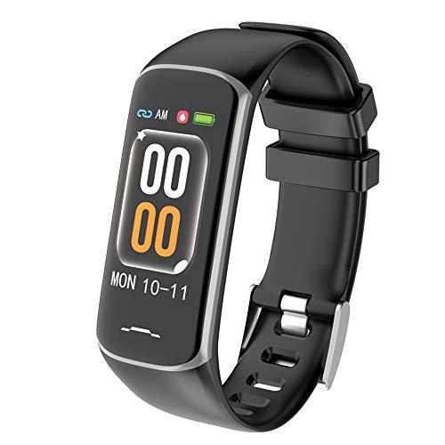 YUYLE Smartwatches Fitnessarmband bloeddrukmeter hartslagmeter Smart-armband waterdicht polshorloge voor dames, Blanco Y Gris