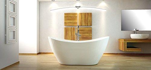 freistehende Badewanne aus Mineralguss 160x70x71 cm weiss Design VYIA
