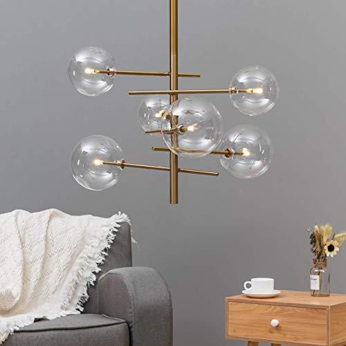 KOSILUM - Suspension design à sphères multiples - Osam - Lumière Blanc Chaud Eclairage Salon Chambre Cuisine Couloir - 6 x max 40W - - G4 (LED 220/230V) - IP20