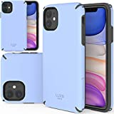 TEAM LUXURY iPhone 11 Case, [Luxe Series] Shockproof, Anti-Drop Protection, Phone Case for Apple iPhone 11 6.1' for Women & Men (Light Blue/Gray)