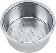 MIBRU Coffee 51mm Filter Espresso Basket 51mm Stainless Steel Double Cup Powder Bowl Reusable Replacement For Portafilter ...