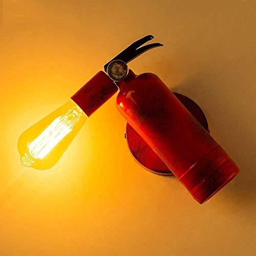 GYYlucky, E27, brandblusser, metaal LED-wandlantaarn, retro loft, creatieve wandlamp, smeedijzeren lamp, kaarshouder, decoratie, cafe taverne, club, wandlamp