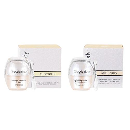 OBEYYOURBODY - Crema Hidratante Intensiva de Día Moisturizing SPF 15 + Crema de Noche - Set F15 50 ml