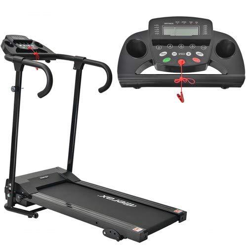 DuraB Laufband Elektrisch Klappbar Leise - Laufband Zusammenklappbar Jogging-Laufmaschine Für zu Hause, Laufband Für Zuhause Klappbar 12 Vorprogramme, 1-10km/h Lauftraining für Profi und Einsteiger