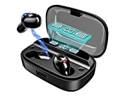 【2020第3世代進化版 4000mAh充電ケース 最大500分間音楽再生 LEDディスプレイ Bluetooth5.0 EDR搭載】Bluetooth イヤホン ワイヤレス イヤホン IPX7完全防水 電池残量インジケーター付き Hi-Fi 高音質 AAC対応 最新bluetooth 5.0+EDR搭載 ブルートゥース イヤホン ハンズフリー通話 左右分離型 自動ペアリング 音量調節可能 技適認証済/Siri対応/ iPhone & Android対応 ブラック