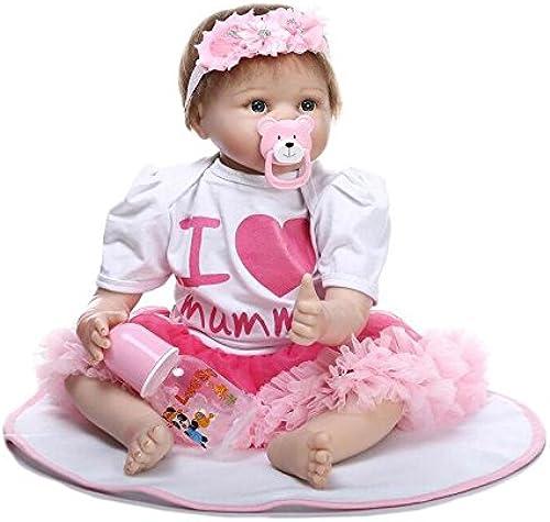 YIHANGG Voll Vinyl Silikon   22 Zoll Lebensechte Reborn Babypuppen Realistische Handgemachte Babys Spielzeug mädchen Geburtstagsgeschenk