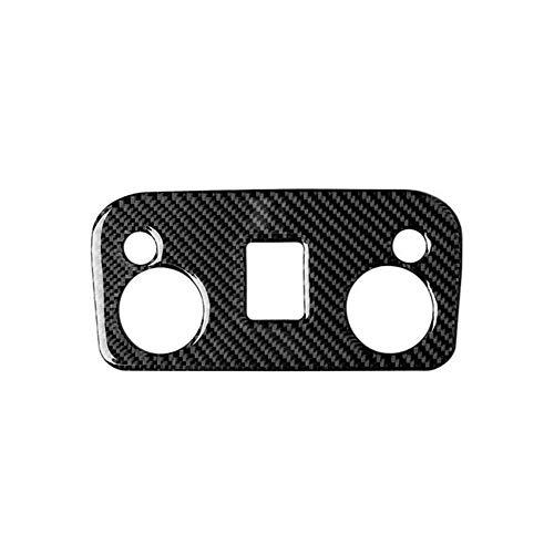 RJJX Leselicht-Lampen-Abdeckungs-Ordnung-Aufkleber Wasserdicht gepasst for Ford Mustang 2015-2019 Carbon-Faser-Leselampe-Abdeckung