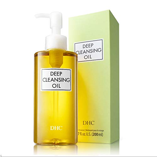 DHC Deep Cleansing Oil, Facial Cleansing Oil, Makeup Remover, Cleanses without Clogging Pores, Residue-Free, Fragrance and Colorant Free, All Skin Types, 6.7 fl. oz.