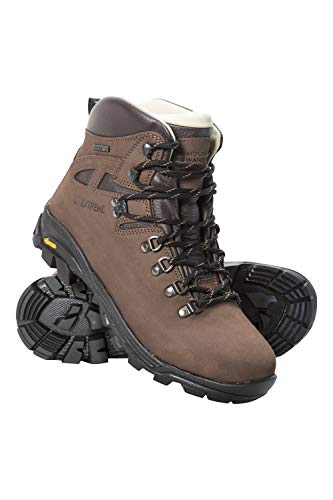 Mountain Warehouse Excalibur Womens Hiking Boots -Vibram Walking Shoe Brown Womens Shoe Size 8 US