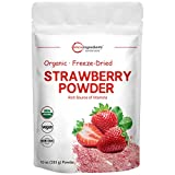 Organic Strawberry Freeze Dried Powder, 10 Ounce, Strawberry...