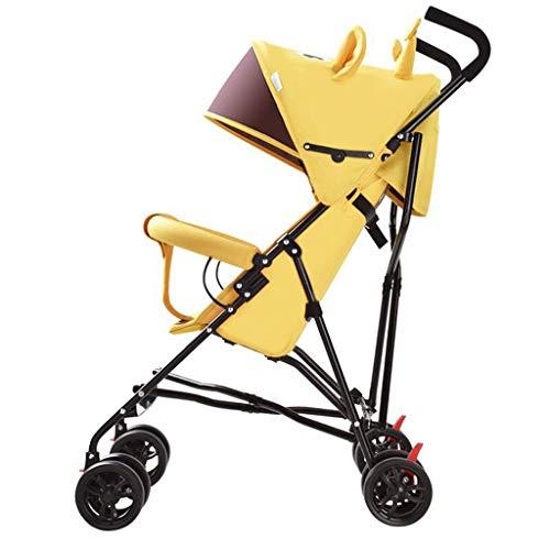 Daxiong Poussettes pour Les Plus Petits Parapluie Portable Pliant pour Les 0-3 Ans,Yellow