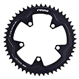 110mm BCD Narrow Wide Chainring for Road Bike Bicycle 38T 40T 42T 44T 46T 48T 50T 52T 54T 56T 58T CNC Machined Alloy Fits 8 to 12 Speed Chains (Black, 38T)