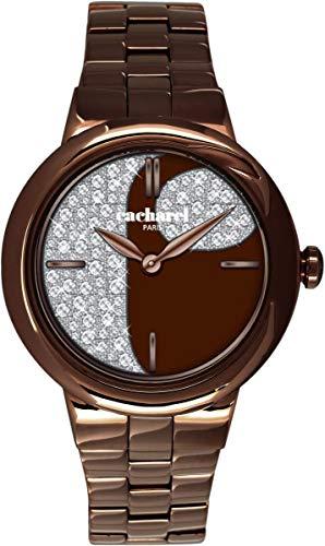 Cacharel CLD 004-5UM - Reloj de pulsera Mujer, Acero inoxidable, color Marrón
