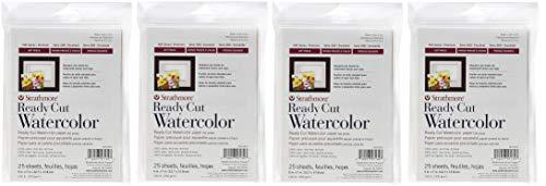 Strathmore 140-305 500 Series Ready Cut Watercolor Paper, 140 lb. Hot Press, 5'x7', 25 Sheets (Fоur Paсk)