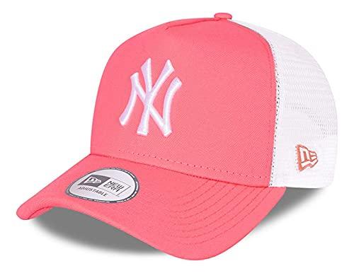 New Era - Gorra de la MLB New York Yankees Tonal Mesh Trucker Snapback - Rosa rosa Talla única