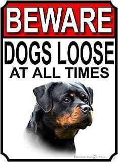 HAND MADE GARDEN SIGN ROTTWEILER DOG SIGN BEWARE CAUTION WARNING SIGN HOUSE SIGN