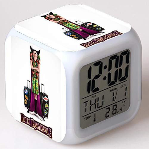 Wizard Hostel Alarm Clocks Kids LED Clock Cartoon Night Light Flash 7 Color Changing Digital Clock Electronic Desk Clock,Style 46, Birthday