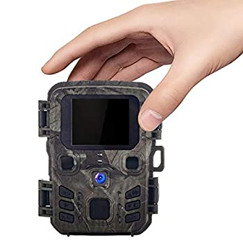 Suntekcam Mini Trail Cameras 20MP 1080P Game Camera with Night Vision Motion Activated and 0.3s Trigger Speed for Hunting Games Waterproof IP66