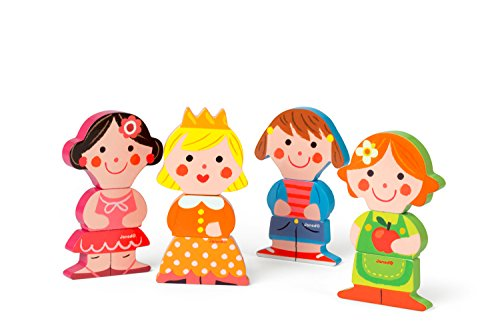 Janod - J07038 - Funny Magnet Bois Baby Dolls